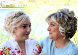 Mother Daughter Wedding Day Hair Updo Image Las Vegas Mobile Beauty