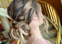 Side view of Updo hairstyle Las Vegas Mobile Beauty