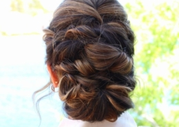 Dark Hair Updo for Bride at Las Vegas Mobile Beauty Rear View