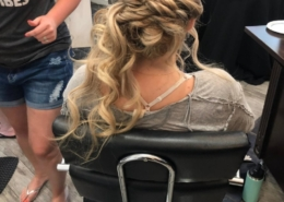 Long Blonde Hair Bridal Trial Hair in Salon Las Vegas Mobile Beauty