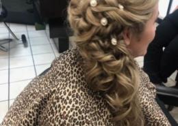 Side View of Long Blonde Hair Trial Bridal Hair Las Vegas Mobile Beauty